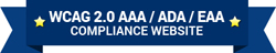 WCAG 2.0 AAA / ADA / EAA Compliance Website
